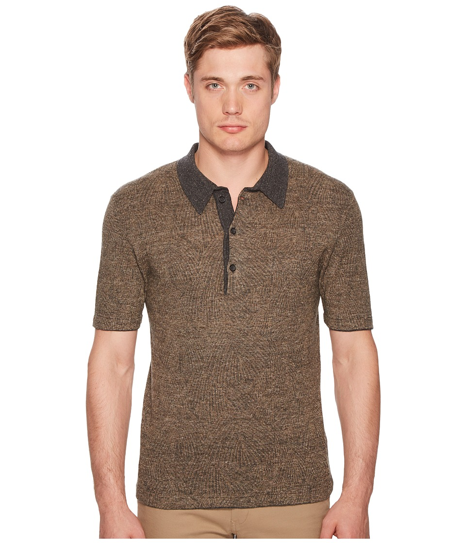 Image of Billy Reid - Willow Polo (Black/Gold) Men's Clothing