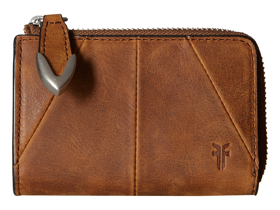 Frye - Jacqui Small L Zip Wallet (Brown Smooth Pull Up) Wallet Handbags