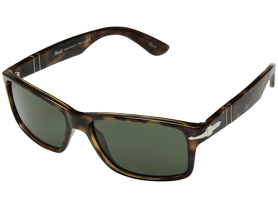Persol - 0PO3154S (Dark Havana/Green) Fashion Sunglasses