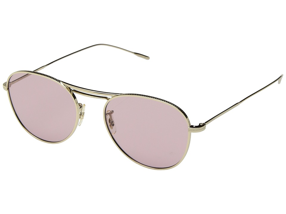 Oliver Peoples Cade (Gold/Pink) Fashion Sunglasses