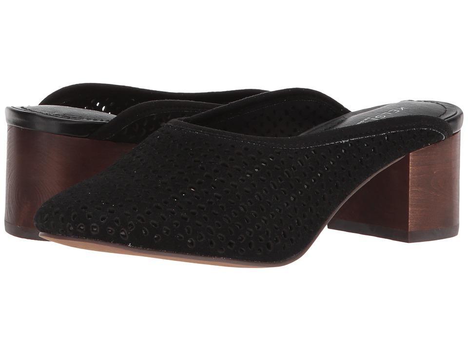 Kelsi Dagger Brooklyn - Lincoln Mule (Black Cow Suede) Womens Shoes