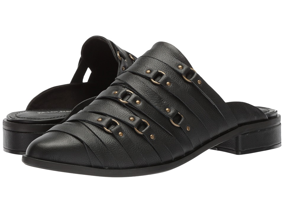 Kelsi Dagger Brooklyn - Alchemy Slide (Black Leather) Womens Shoes