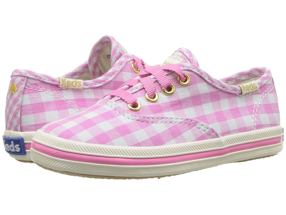 Keds Kids - Keds for Kate Spade Champion Seasonal (Toddler) (Pink Gingham) Girls Shoes