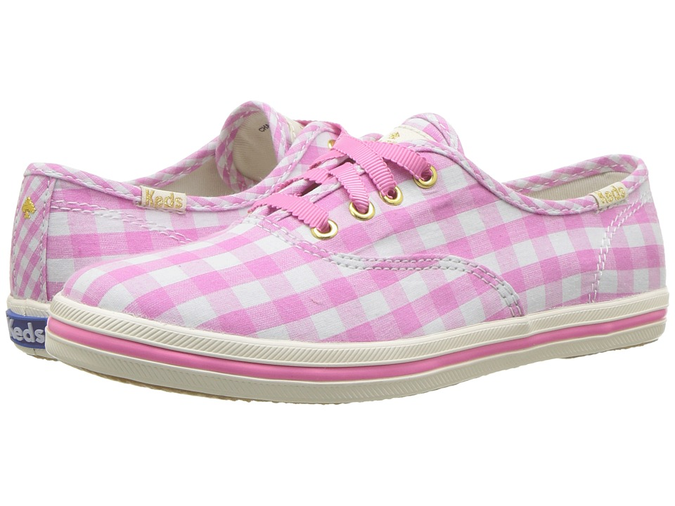Keds Kids - Keds for Kate Spade Champion Seasonal (Little Kid/Big Kid) (Pink Gingham) Girls Shoes
