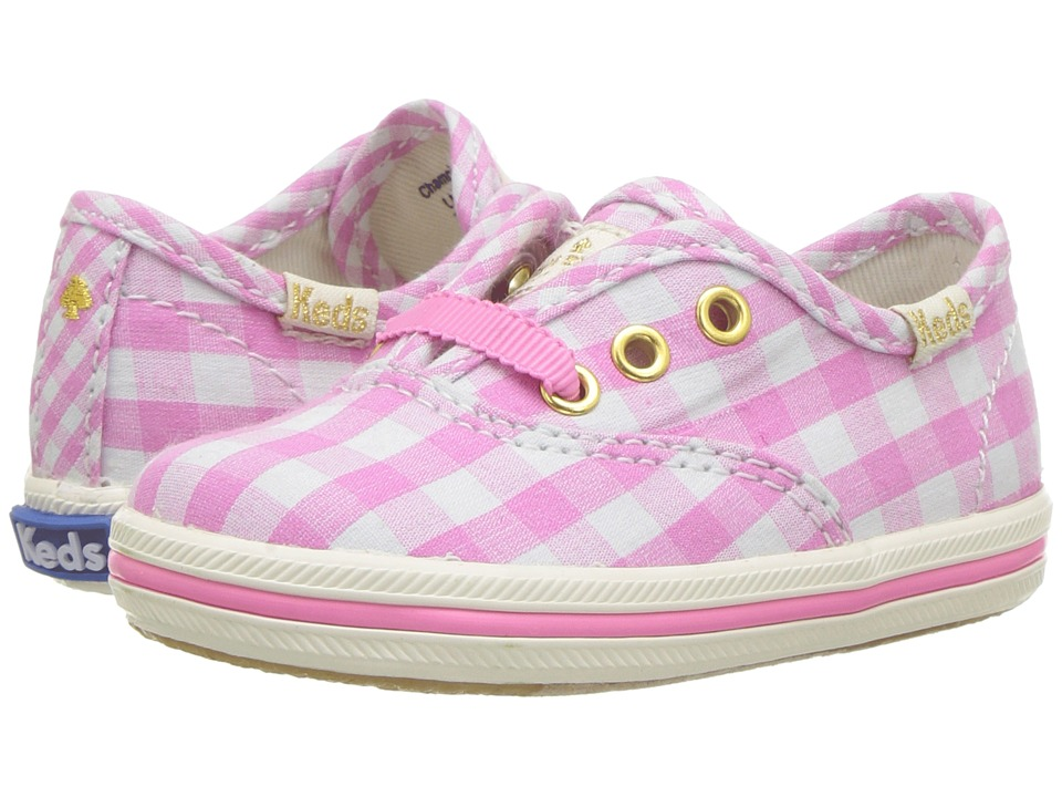 Keds Kids - Keds for Kate Spade Champion Seasonal Crib (Infant/Toddler) (Pink Gingham) Girls Shoes