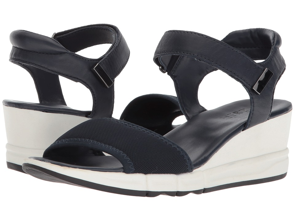 Naturalizer Irena (Ink/Navy Stretch Leather) Wedges