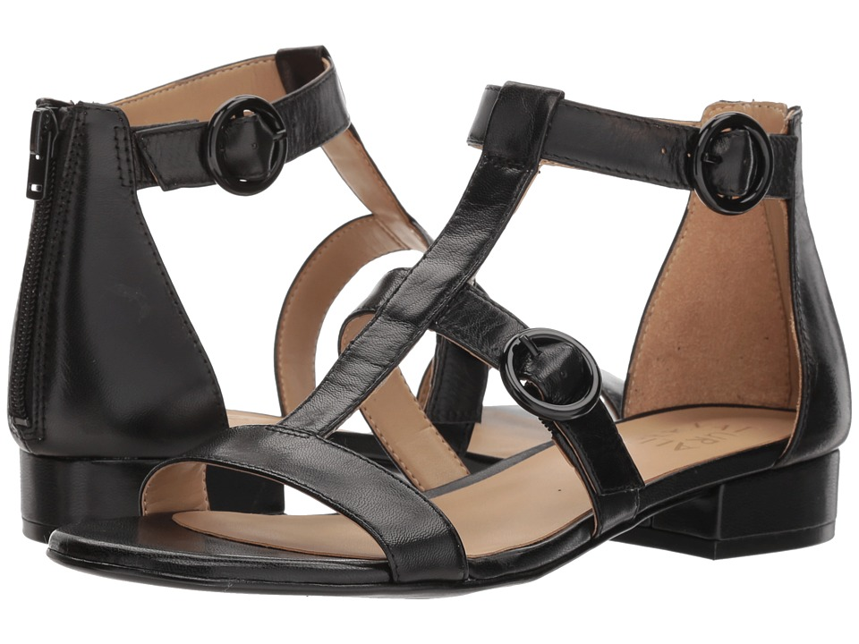 Naturalizer Mabel (Black Leather) Sandals