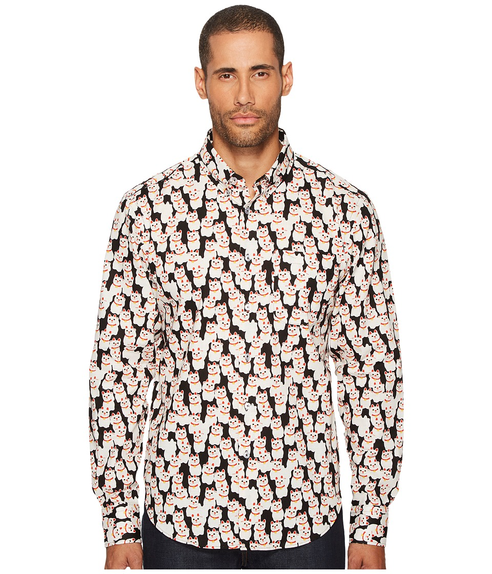 Naked & Famous - Lucky Cats Print Shirt
