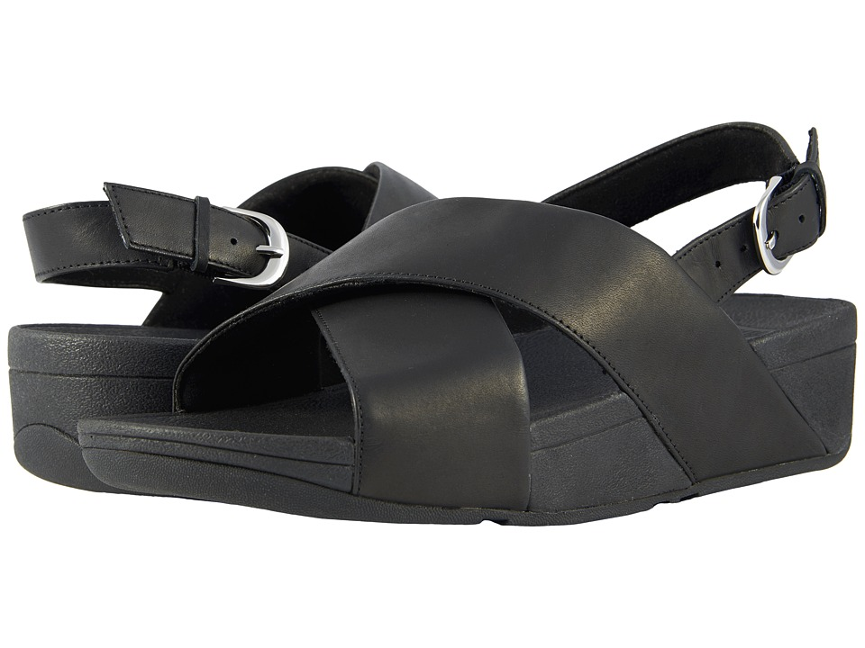 FitFlop - Lulu Cross-Back Strap Sandal (Black) Womens Sandals
