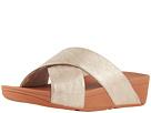 FitFlop Lulu Cross Slide Shimmer Print Sandal