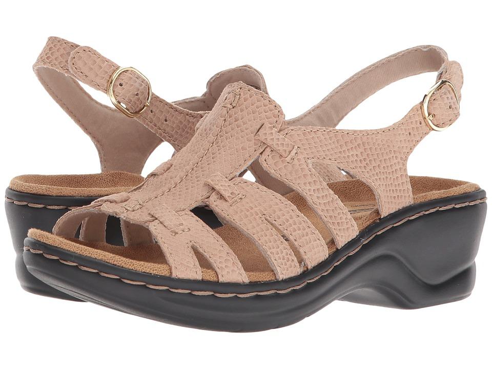 Clarks Lexi Marigold Q (Sand Snake Print) Sandals