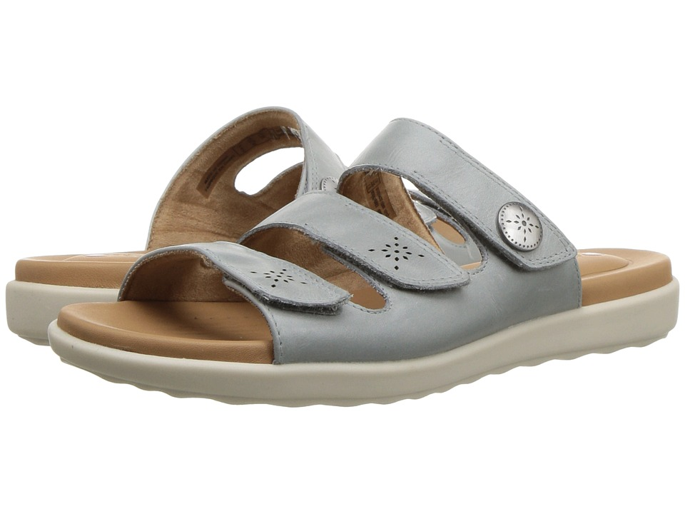 Clarks - Un Reisel Myra (Blue/Grey Leather) Womens Sandals