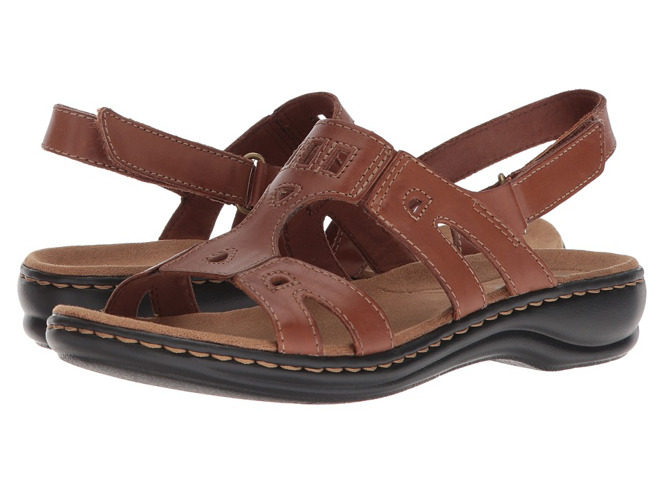 Clarks Leisa Annual (Dark Tan Leather) Sandals