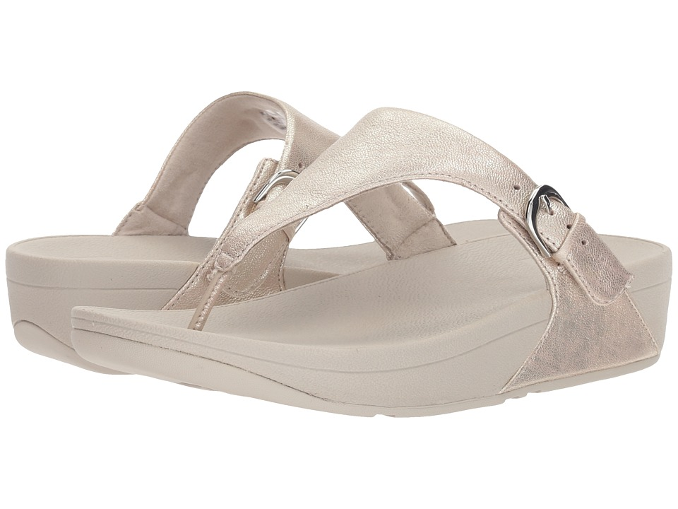 FitFlop - Skinny Toe Thong Sandal (Silver) Womens Sandals