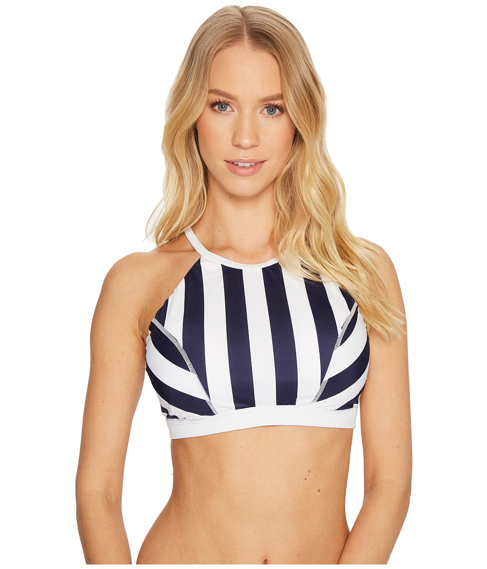 Tommy Bahama IslandActive Stripe High-Neck Top (Mare Navy)