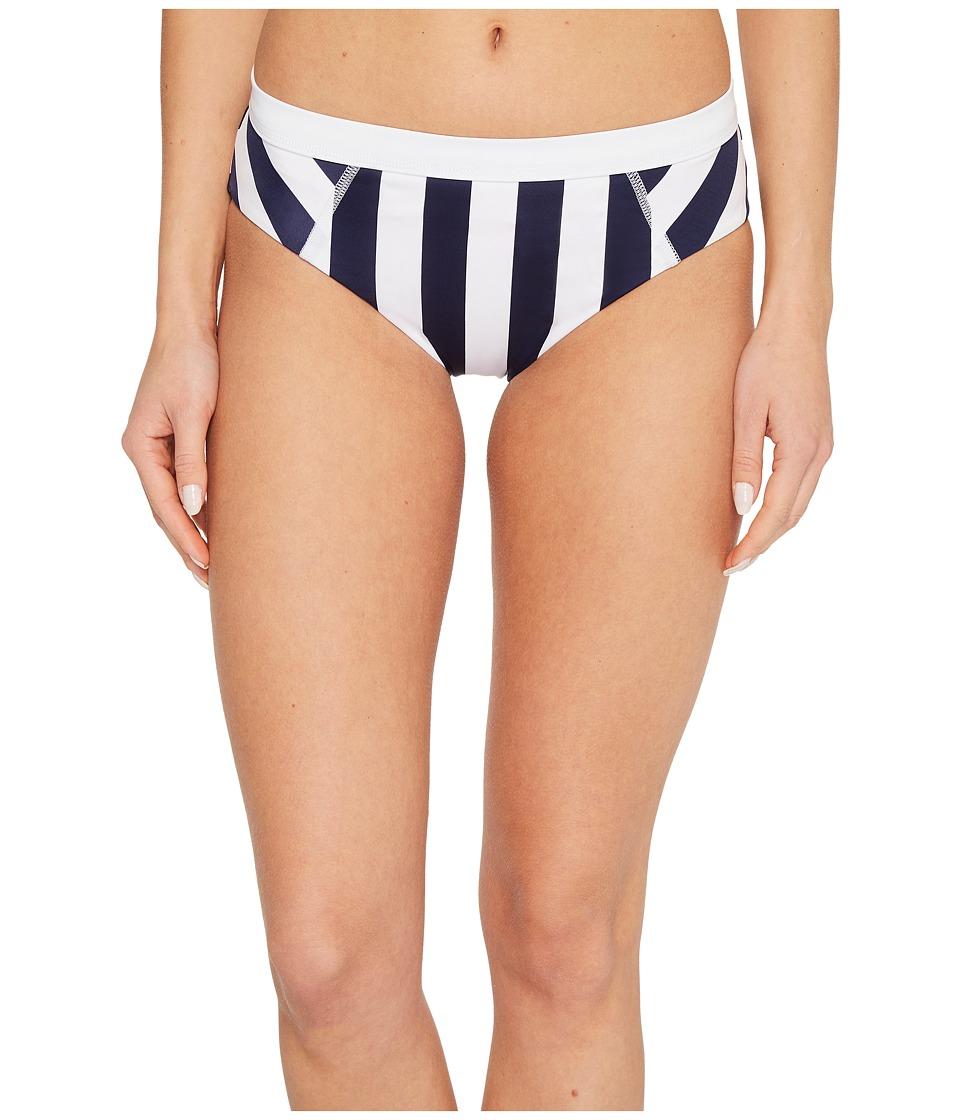 Tommy Bahama IslandActive Stripe High-Waist Bikini Bottom (Mare Navy)
