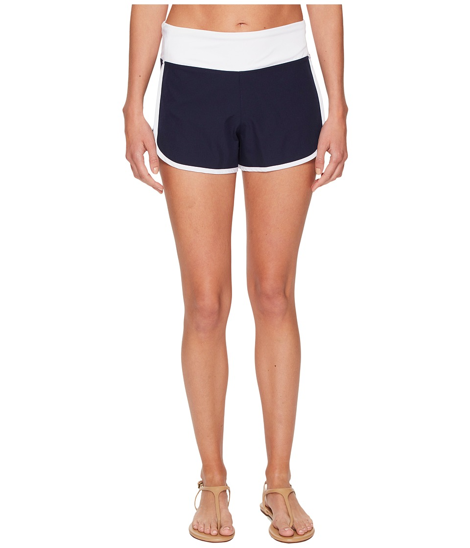 Tommy Bahama IslandActive Solid Hybrid Pull-On Short Cover-Up (Mare Navy)