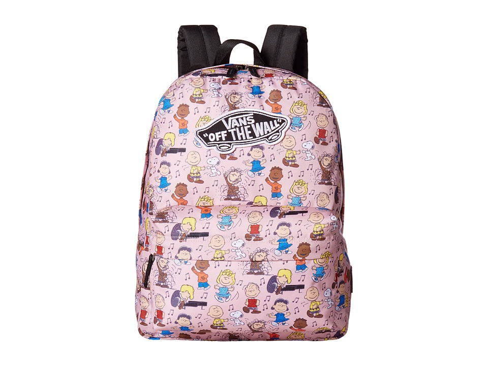 Vans Peanuts Dance Party Realm Backpack (Peanuts Dance Party) Backpack Bags