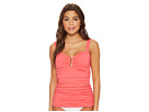 Tommy Bahama Pearl Over-The-Shoulder Shirred Tankini