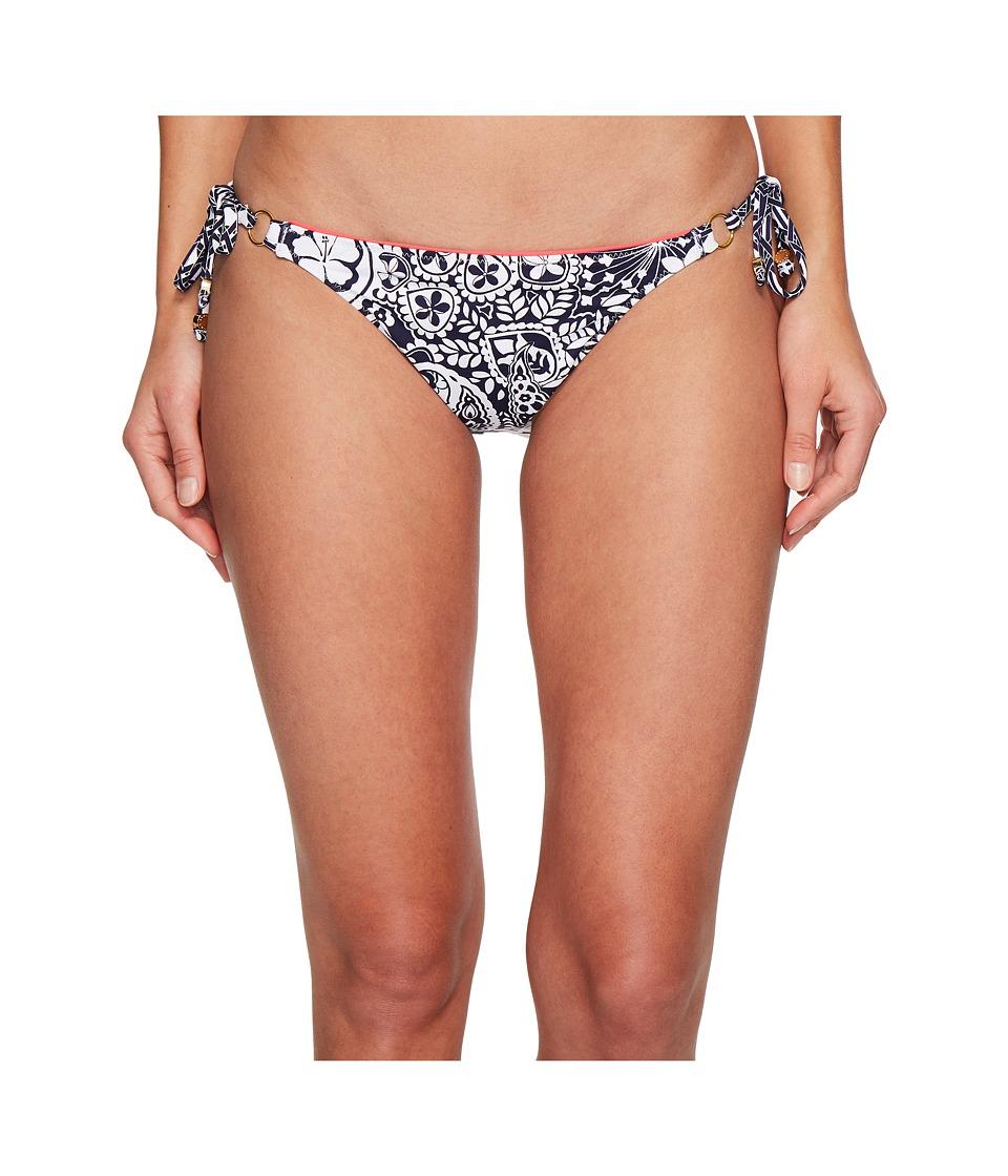 Tommy Bahama Paisley Paradise Reversible String Bikini Bottom (Mare Navy)