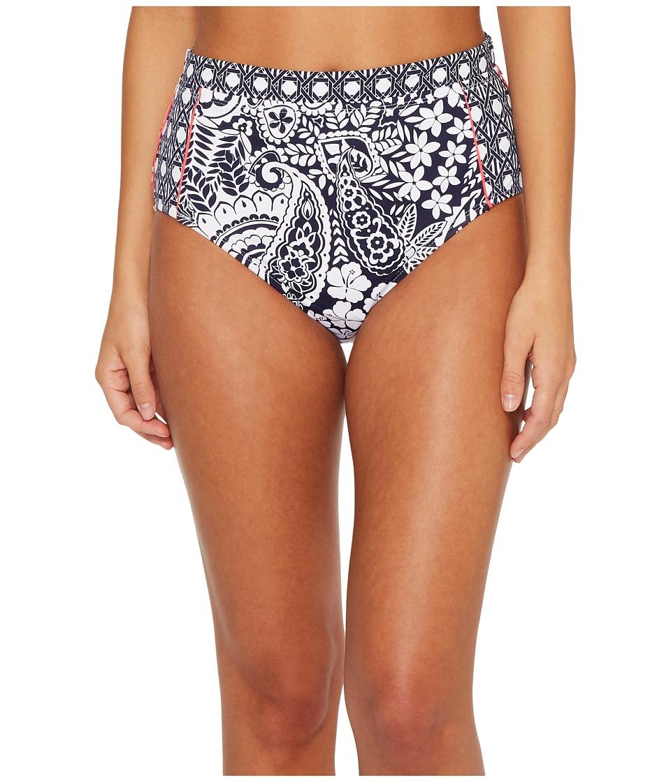 Tommy Bahama Paisley Paradise High-Waist Bikini Bottom (Mare Navy)