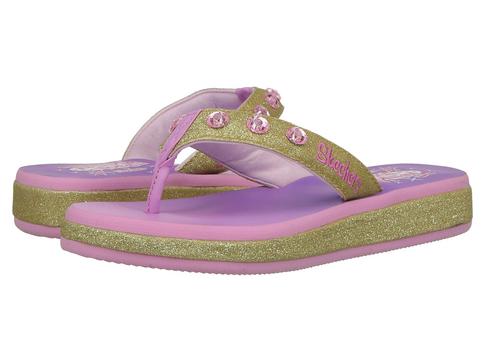 SKECHERS KIDS - Twinkle Toes - Sunshines 10752L Lights (Little Kid/Big Kid) (Gold/Pink) Girls Shoes