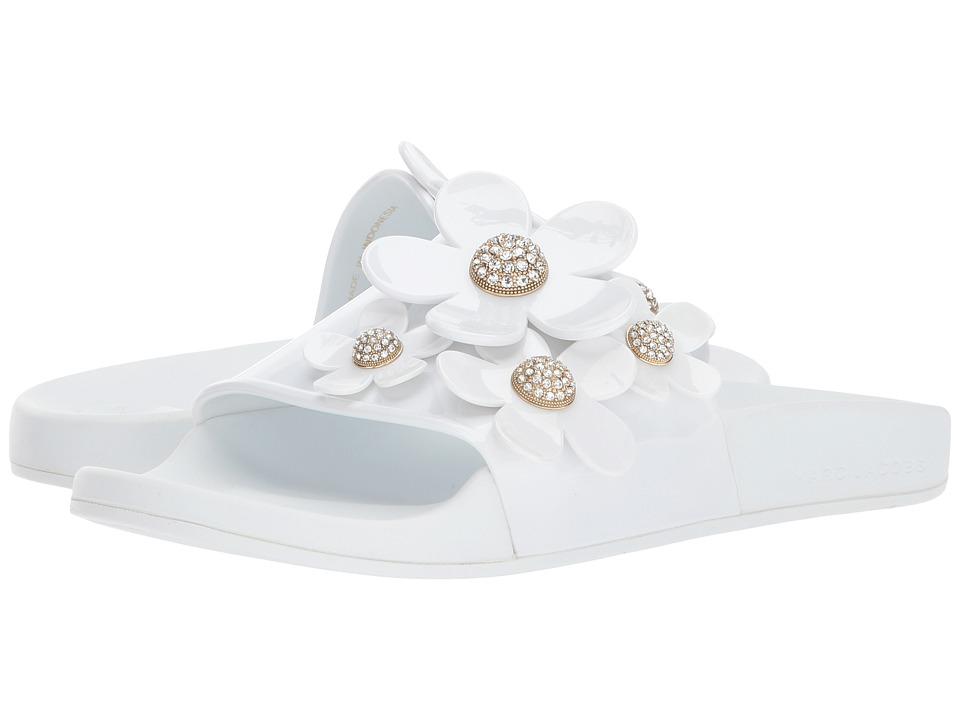 Marc Jacobs Daisy Pave Aqua Slide (White) Women