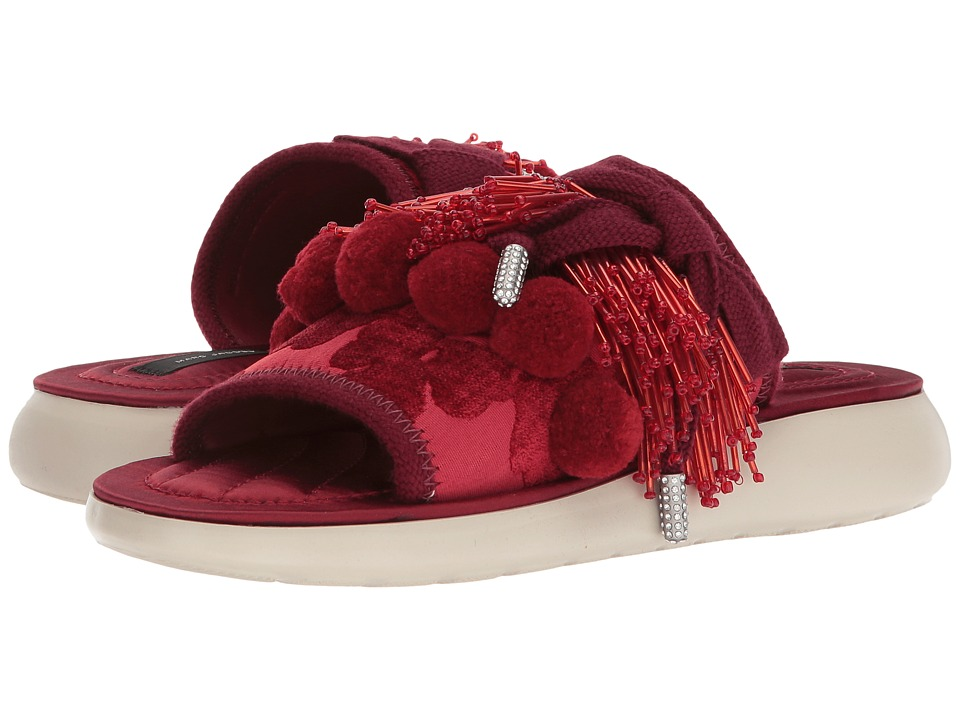 Marc Jacobs - Emerson Pompom Sport Sandal (Red) Women's Sandals