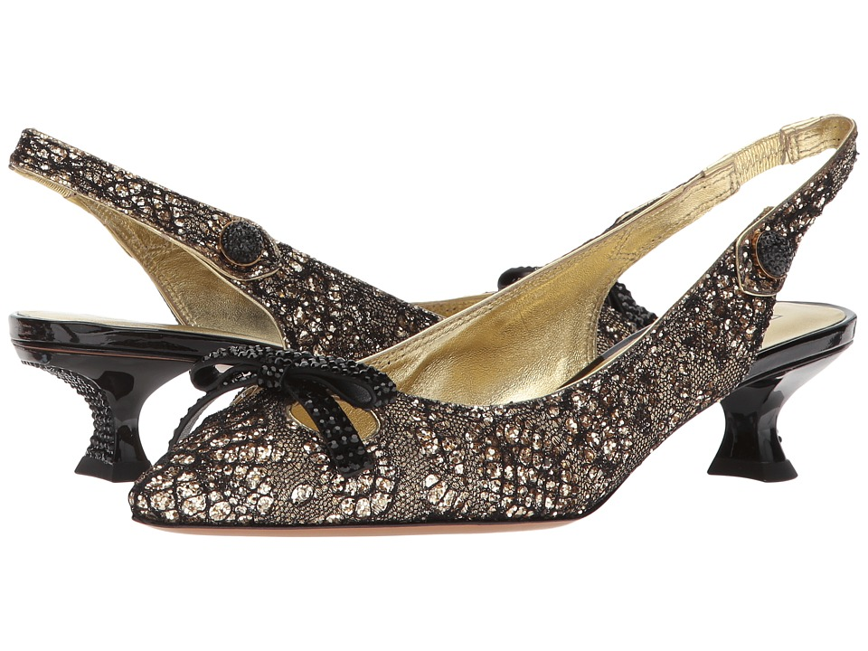 Marc Jacobs - Abbey Slingback Pump (Gold) Womens Shoes