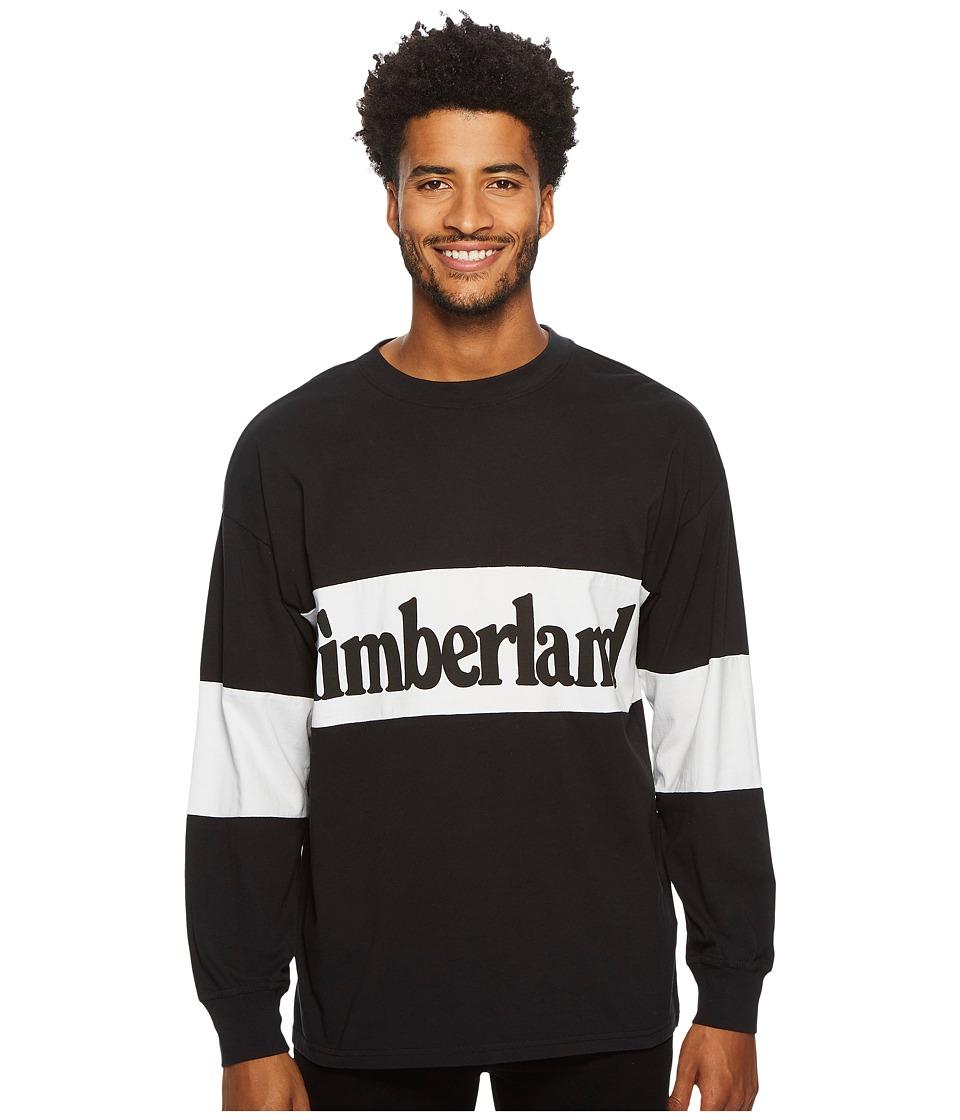 Timberland Warner River Long Sleeve Retro Oversized Tee (Black) Men