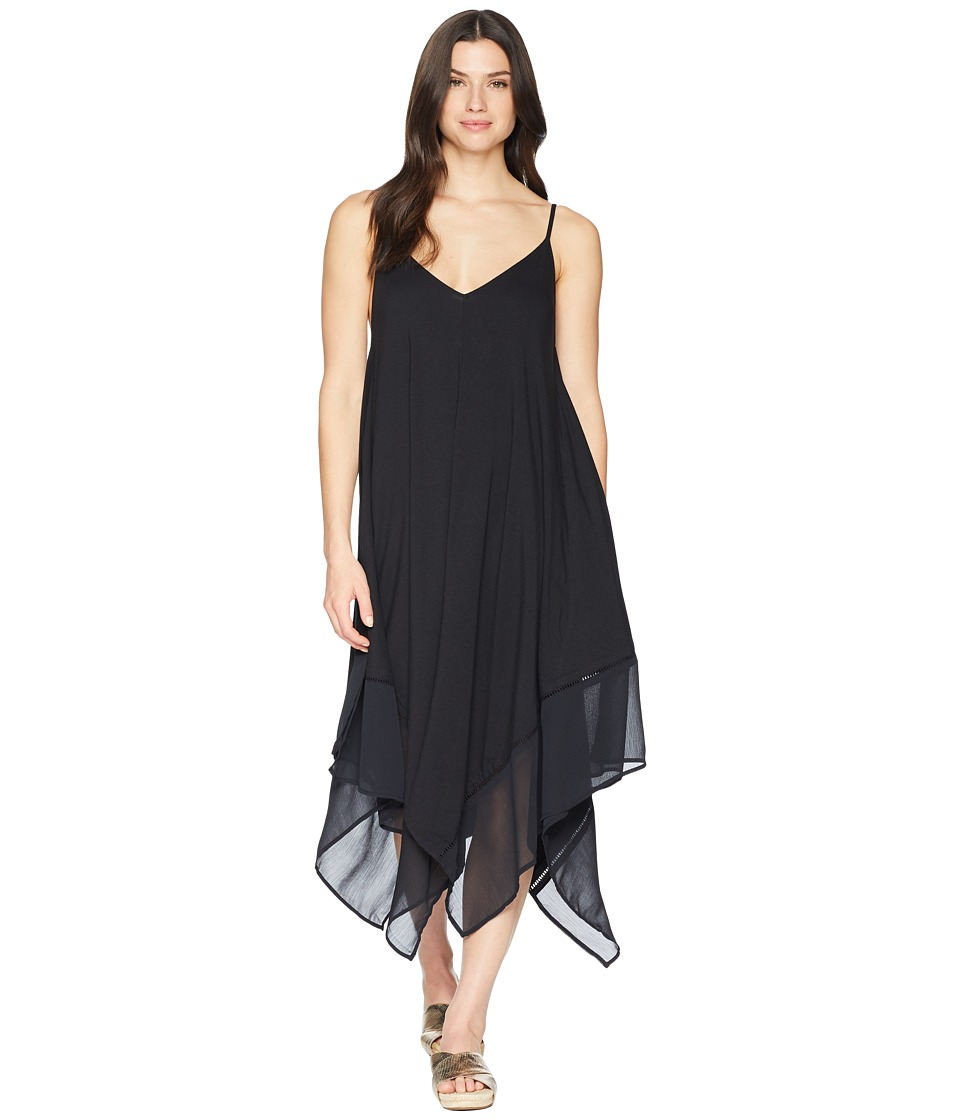 Tommy Bahama Cotton Modal Scarf Dress Cover-Up (Black)