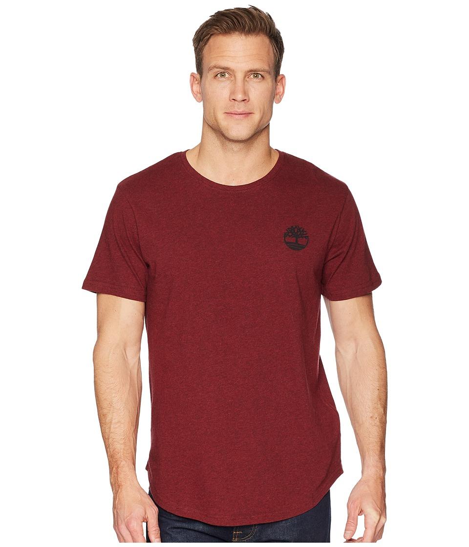 Timberland - Short Sleeve Back Graphic Tee (Biking Red Heather) Mens T Shirt
