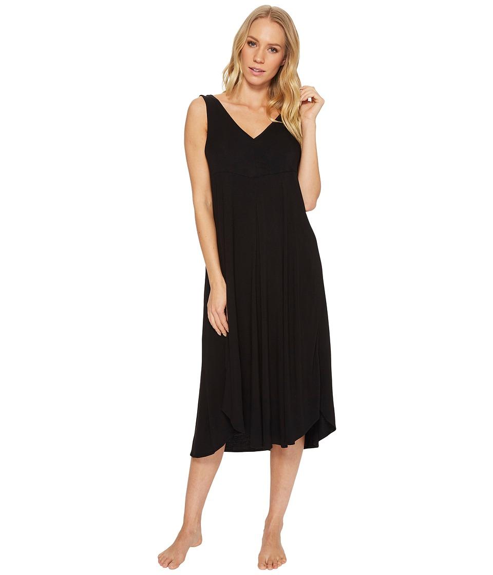 Donna Karan - Modal Spandex Jersey 44 Gown (Black) Womens Pajama