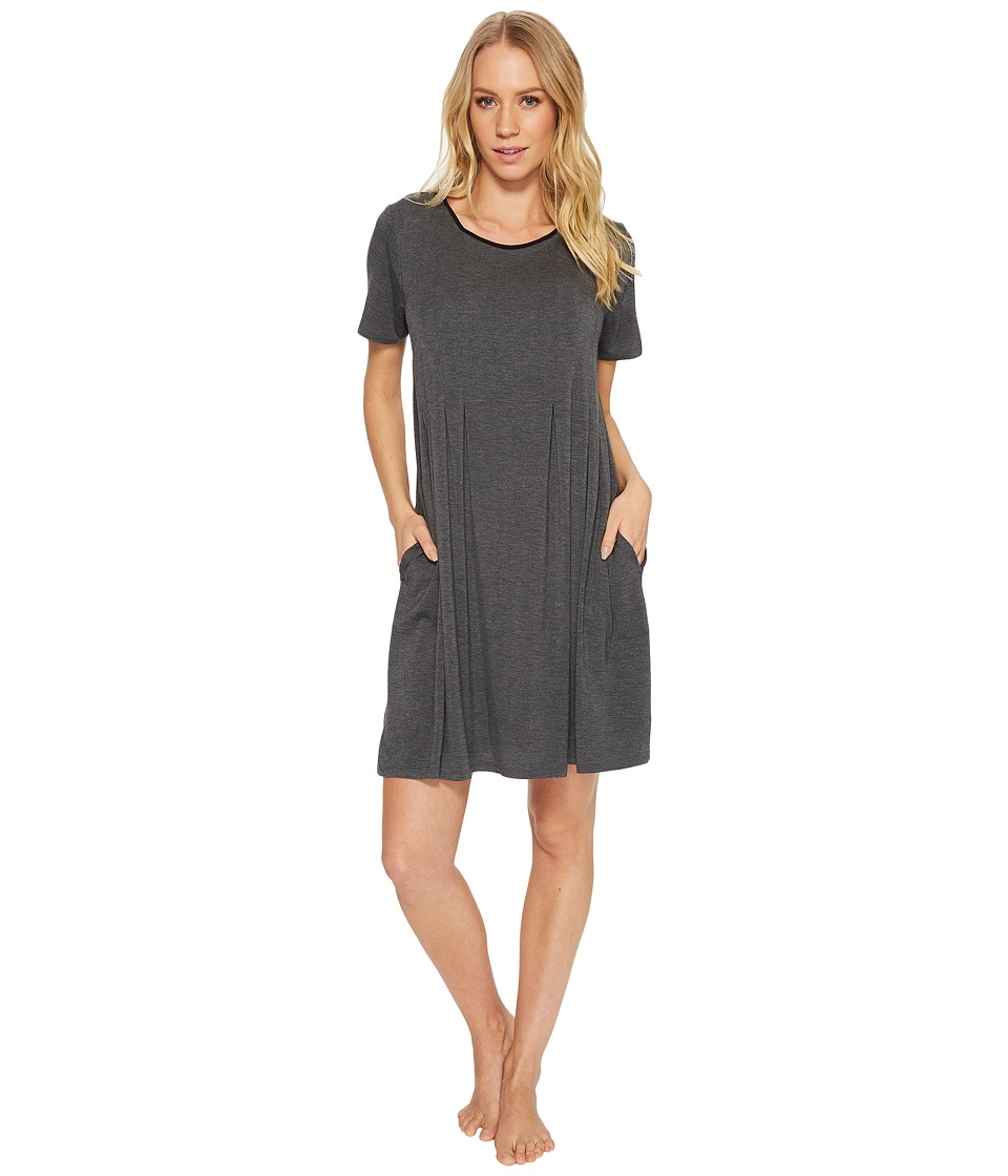 Donna Karan - Modal Spandex Jersey Sleepshirt (Charcoal Heather) Womens Pajama