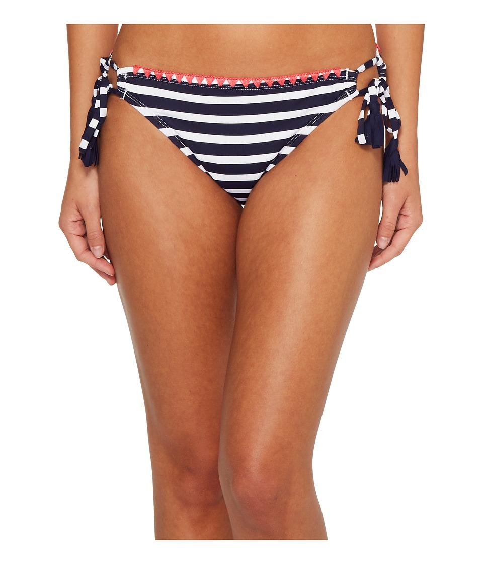 Tommy Bahama Breton Stripe Side-Tie Bikini Bottom (Mare Navy/White)