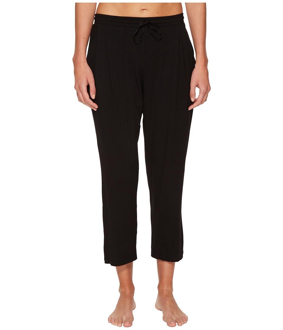 Donna Karan Modal Spandex Jersey Capri Pants (Black) Women