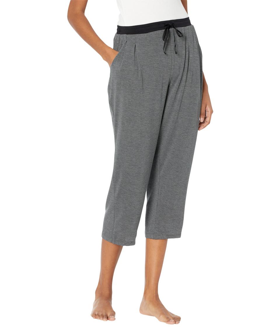 Donna Karan Modal Spandex Jersey Capri Pants (Charcoal Heather) Women