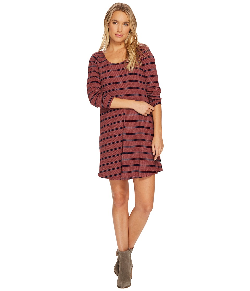 RVCA Time Table Dress (Burnt Sienna) Women
