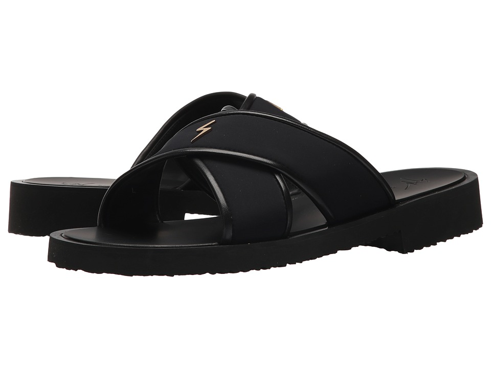 Giuseppe Zanotti - Gomzak Crossover Sandal (Black) Men's Sandals