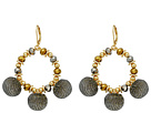 Rebecca Minkoff High Shine Pompom Chandelier Earrings