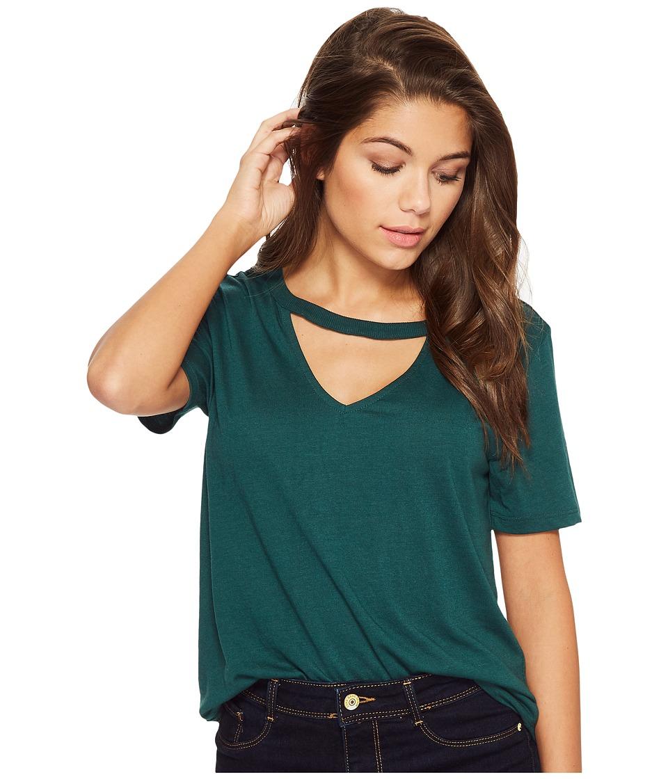 RVCA - Run On Short Sleeve (Garden Green) Womens Clothing