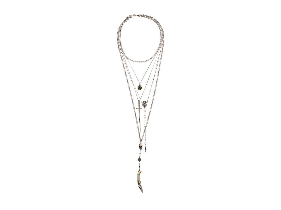 Vanessa Mooney The Vera Layered Rosary Necklace (Silver) ...
