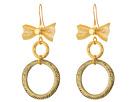 Vanessa Mooney The Mesh Bow Hoop Earrings
