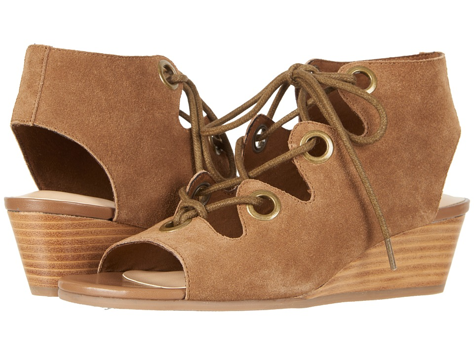 Bella-Vita Ingrid (Cognac Suede Leather) Wedges