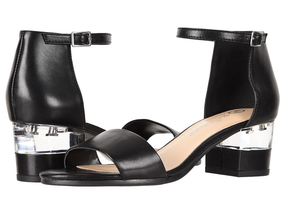 Bella-Vita Fitz (Black Leather) Women's Hook and Loop Shoes