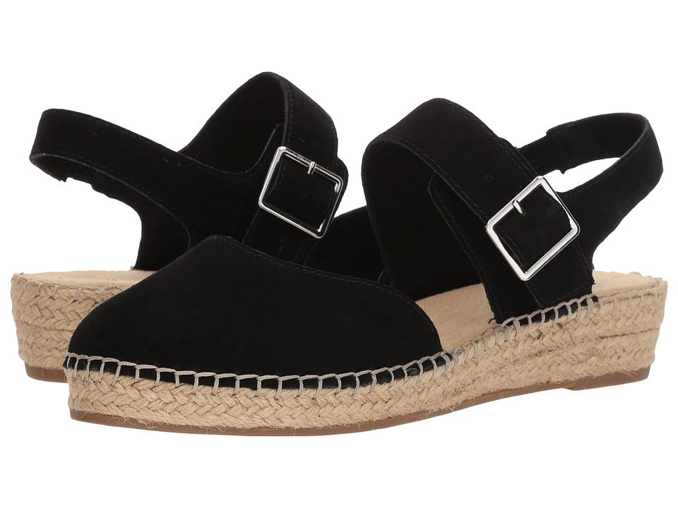 Vintage Sandals | Wedges, Espadrilles – 30s, 40s, 50s, 60s, 70s Bella-Vita Caralynn Black Kid Suede Leather Womens Sling Back Shoes $99.95 AT vintagedancer.com