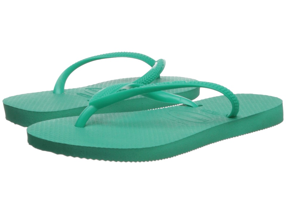 Havaianas Kids - Slim Flip Flops (Toddler/Little Kid/Big Kid) (Mint Green) Girls Shoes