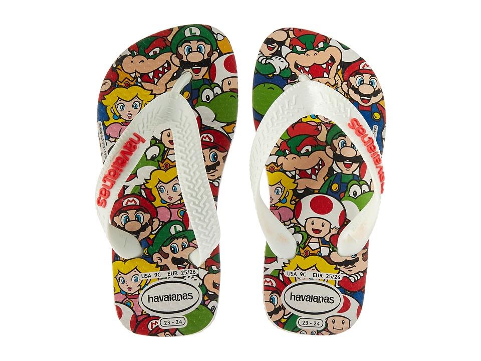 Havaianas Kids - Mario Bros Flip-Flop (Toddler/Little Kid/Big Kid) (White) Kids Shoes