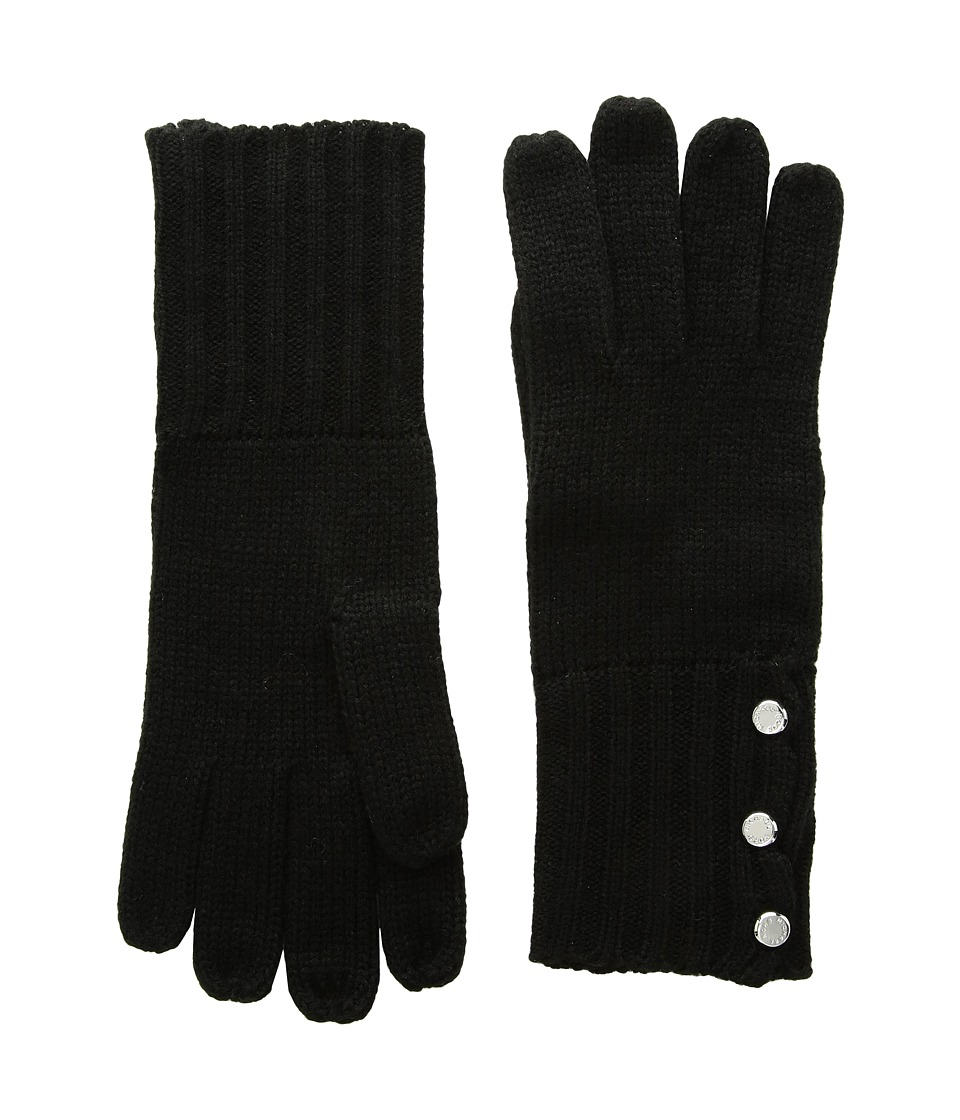 MICHAEL Michael Kors Rib Gloves (Black) Extreme Cold Weather Gloves