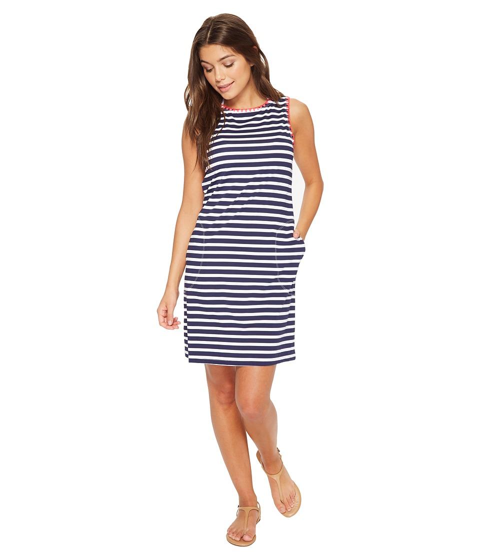 Tommy Bahama Breton Stripe Swim Dress Cover-Up (Mare Navy/White)
